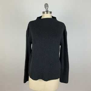 Eileen Fisher Cowl Neck Dark Grey Sweater